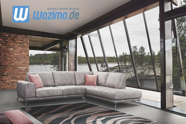 Sofa mit Schlaffunktion Modell in Hellgrau Deko Kissen das perfekte Möbelstück fürs Wohnzimmer