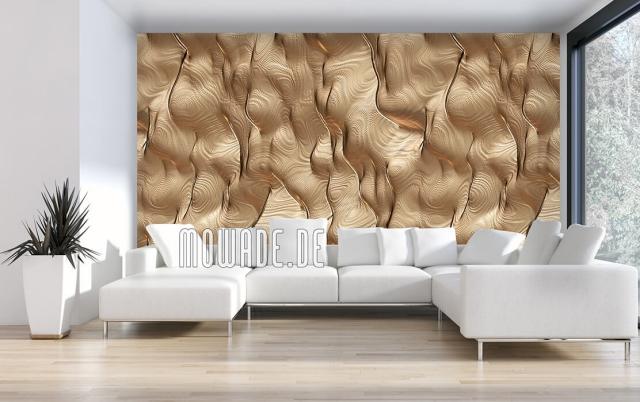 Design Tapeten abstrakte Motive im Goldglanz sehr auffallend elegant stilvoll