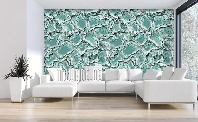 Design Tapeten ausgefallenes Muster in Türkis persönliches Design